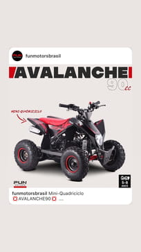 FUN MOTORS MINI QUADRICICLO AVALANCHE 90 CC